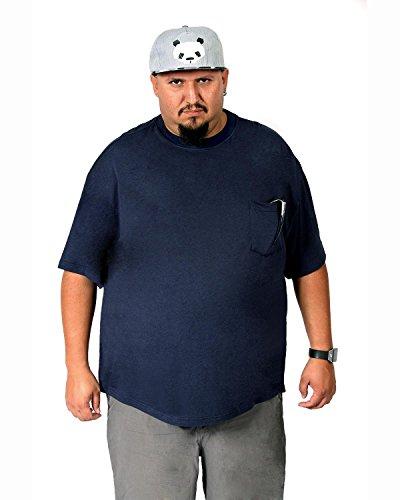 c8aa3ed73000 Big Boy Bamboo Men's Crew Neck with Pocket Bamboo Short-Sleeve T-Shirt (4XL,  Dark Blue)