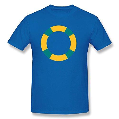 Personalized Short Sleeve Causal Lifebuoy Man's T-Shirts Size S RoyalBlue