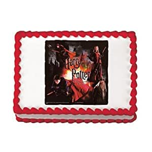 Cake Decorating Kit Of The Month : Amazon.com: Harry Potter Edible Image Cake Decoration ...