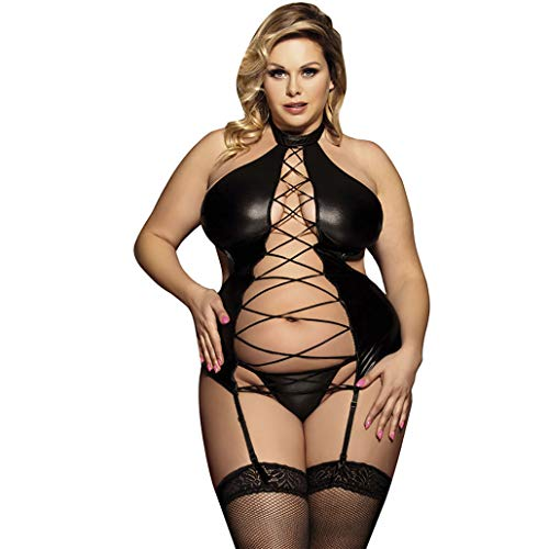 LIUOONEIYI Sling Stockings Stockings Including lace Stockings Lifting Leaves Suspenders Stockings lace, XXXL,Black,L