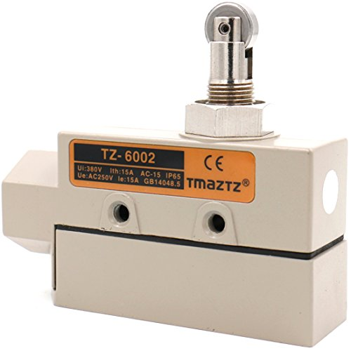 Baomain TZ-6 Sealed Limit Switch TZ-6002 Parallel Roller Plunger AC 250V 15A IP 65 (Plunger Micro)