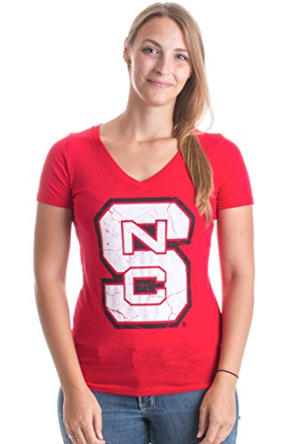 JTshirt.com-15190-North Carolina State University | NC State Wolfpack V-neck Ladies\' T-shirt-B014LLUDMI-T Shirt Design