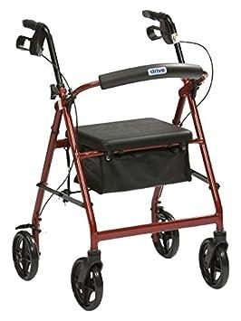 Drive Medical R8RD-23 - Andador (aluminio), color rojo