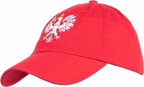 best website 32598 113fe Poland Pride   Vintage Style, Retro Polish Eagle Polska Low Baseball Cap  Dad Hat Red