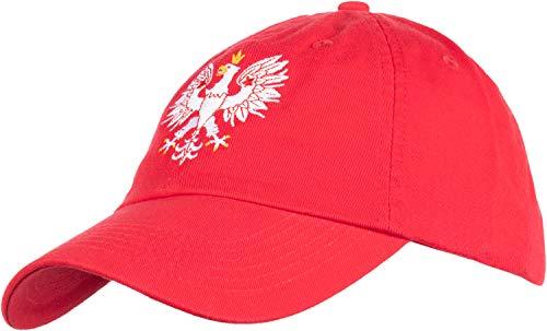 (Poland Pride | Vintage Style, Retro Polish Eagle Polska Low Baseball Cap Dad Hat Red)