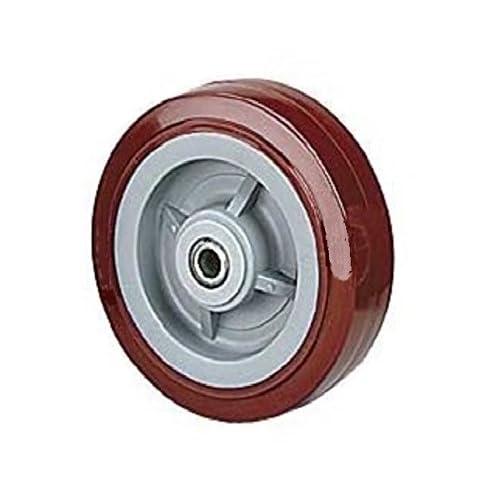 "(One) DuraTek 8"" x 2"" Polyurethane Wheel with 1/2"" ID Maroon 300# Cap."