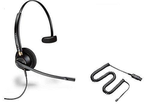 Avaya Compatible Plantronics HW510 EncorePro 510 Noise Canceling Headset Bundle Avaya 1600, 9600 Phones: 1608 1616 9601 9608 9610 9611 9611G 9620 9620C 9620L 9621 9630 9640 9640G 9641 9650 9650C 9670