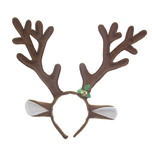 Christmas Deer Reindeer Antlers Headband - for Easter Halloween Party Accessories]()