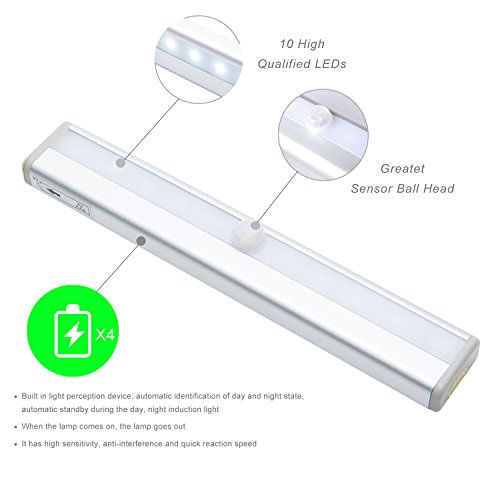 Motion Sensor Closet Light Under Cabinet Lighting Battery