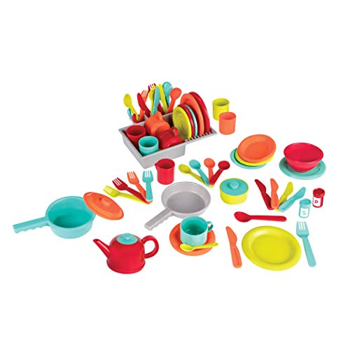 Battat - Deluxe Kitchen - Pretend Play Accessory Toy Set (71 Pieces Including Pots & Pans) (Renewed)