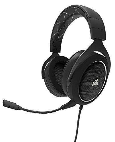 CORSAIR HS60 – 7.1 Virtual Surround Sound PC Gaming Headset w/USB DAC - Discord Certified Headphones – compatible with Xbox One, PS4, and Nintendo Switch – White
