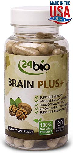 Brain Supplement- for Better Memory and Focus- Natural Brain Booster, Promotes Concentration, Cognition and Clarity- Full of Gingko Biloba, Guarana Seed Extract, DMAE, Rhodiola Rosea 3% Extract