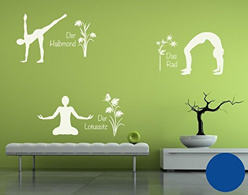 Klebefieber Wandtattoo Wandtattoo Wandtattoo Yoga Figuren Set 4 B x H  110cm x 170cm Farbe  Creme B071VDMJZ4 Wandtattoos & Wandbilder 61e42b