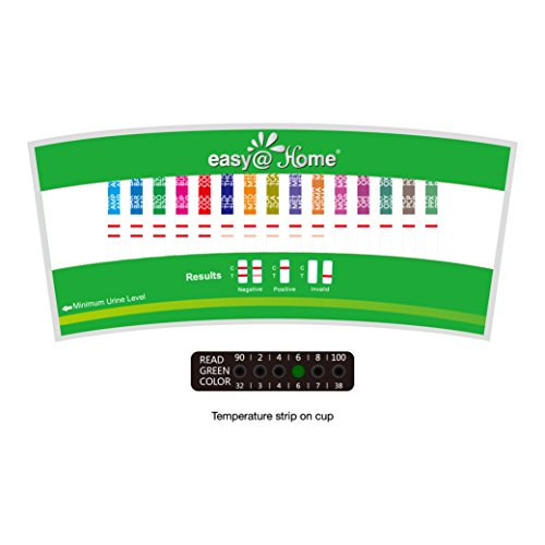 5 Pack Easy@Home 14 Panel Instant Drug Test Cup Kit with 3 Adulterations Strips, Testing 14 Drugs BUP, THC, OPI 2000, AMP, BAR, BZO, COC, MET, MDMA, MTD, OXY, PCP, PPX, TCA-#ECDOA-1144A3 by Easy@Home (Image #4)