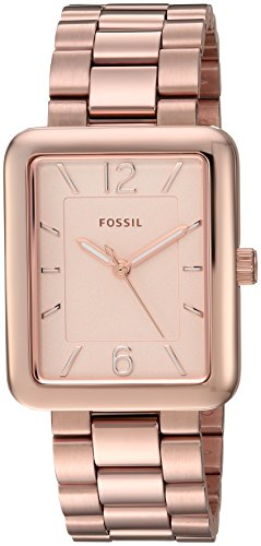 Fossil Women's ES4156 Atwater Three-Hand Rose Gold-Tone S...