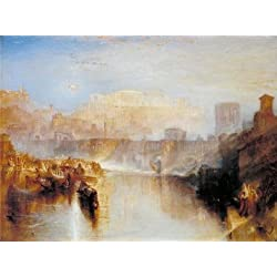 Oil Painting 'Joseph Mallord William Turner - Ancient Rome; Agrippina Landing With The Ashes Of Germanicus,1839' Printing On High Quality Polyster Canvas , 30x40 Inch / 76x102 Cm ,the Best Kitchen Gallery Art And Home Decor And Gifts Is This Best Price