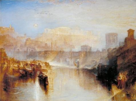 The High Quality Polyster Canvas Of Oil Painting 'Joseph Mallord William Turner - Ancient Rome; Agrippina Landing With The Ashes Of Germanicus,1839' ,size: 18x24 Inch / 46x61 Cm ,this Imitations Art DecorativePrints On Canvas Is Fit For Garage Artwork And Home Decoration And Gifts - Ancient Graffiti Vase