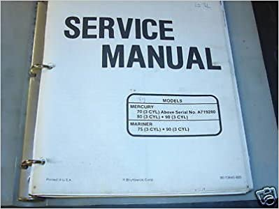 1997 MERCURY MARINER OUTBOARD 70, 75, 80 SERVICE MANUAL