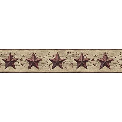 York Wallcoverings Best Of Country Star Berry Border