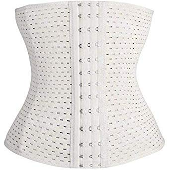 d2ae0429206 Buy Girl Women Hot Body Shaper Slim Waist Tummy Girdle Belt Waist Cincher  Under Bust Corset Firm Waist Trainer Slimming Belly Color Beige Size S  Online at ...