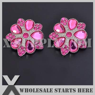 - Maslin Color Option: RB1050#20~#37/ Decoration Star Roxanne Acrylic Rhinestone Button with Shank Backing/Wholesale Bulk - (Color: 34 Peridot, Size: 30mm)