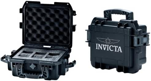 Invicta DC3BLK Black 3-slot Watch Collectors Case