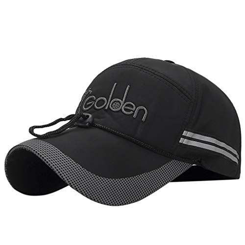 HYIRI Shade Reflective Running Cap A Quick Dry Hat for Men The Flashback 360 Sports Cap Black]()