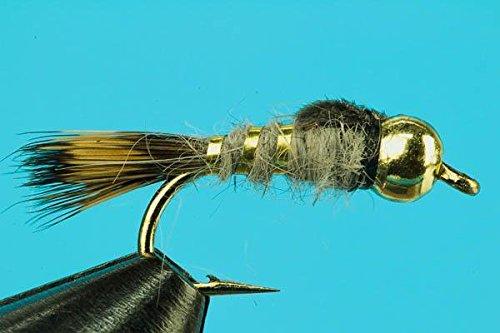 - Beadhead Gold Ribbed Hare's Ear--One Dozen--Size 16
