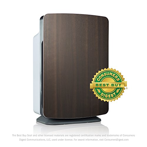 Alen BreatheSmart Customizable Air Purifier with HEPA-Pure Filter for Allergies and Dust (Espresso, 1-Pack)