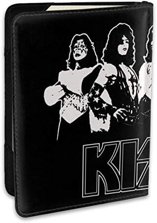 Kiss Band キスバンド パスポートケース パスポートカバー メンズ レディース パスポートバッグ ポーチ 収納カバー PUレザー 多機能収納ポケット 収納抜群 携帯便利 海外旅行 出張 クレジットカード 大容量
