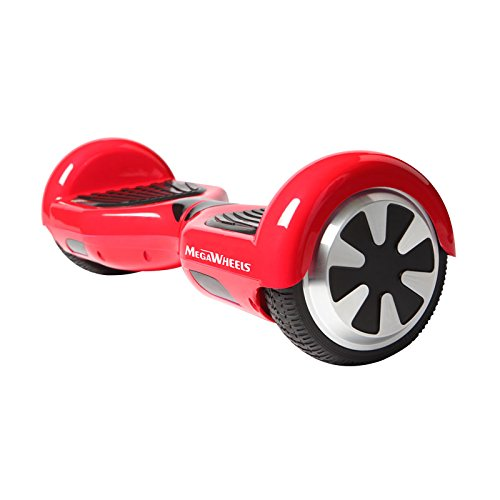 Megawheels Tw01-1 6.5' Hoverboard UL 2272 Certified Dual Motors 2X350W Self-Balancing Smart Scooter (Red)