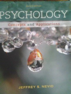 Psychology - Concepts & Applications textbook only - 4th Edition - Nevid