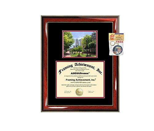 (Rutgers University Newark Diploma Frame Graduation Degree Frame College Campus Bachelor Master PhD Doctorate School Double Mat Gift Certificate Document Diploma Framing)