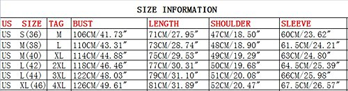 Hzcx Fashion Men's Military Cotton Turn Down Collar Long Sleeve Pockets Shirts 20170303-1591-69-KH-US M(38) TAG L