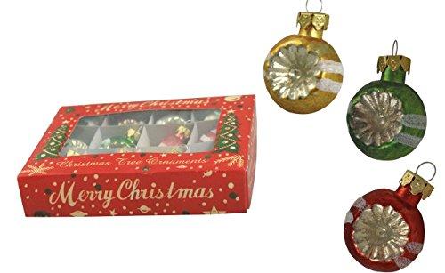 Bethany Lowe Christmas - Retro Stripe Mercury Ball Ornament Set - LG0756