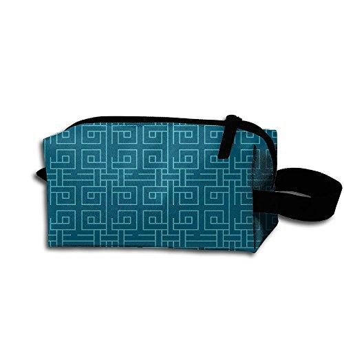 Makeup Cosmetic Bag Texture Wallpaper Medicine Bag Zip Travel Portable Storage Pouch For Mens (Texture Essentials Wallpaper)