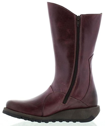 Calf Womens Mid 2 Fly London Boots Leather Mes Purple wIqXZYU