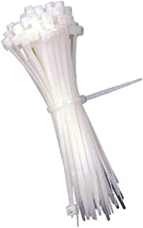 """product image for BuyCableTies 6"""" Miniature Style Indoor Cable Ties - 18 lb Rated - Made in USA - Natural/Clear - 1000 per bag"""