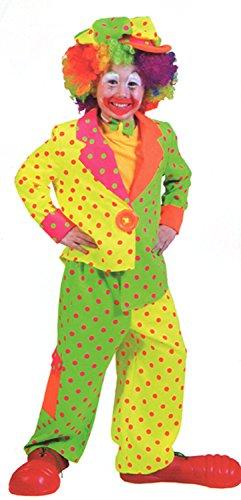 Pokey Costume (Boy's Pokey Dot Clown Costume (Child Medium))