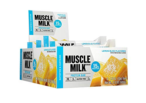 Muscle Milk Protein Bar, Lemon Bliss, 15g Protein, 12 count