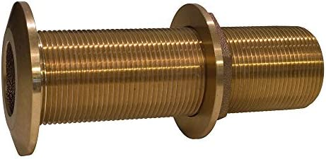 Groco Bronze Thru Hull with Nut 1 1//4 in
