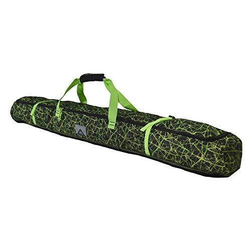 High Sierra Padded Ski Bag for Single Pair of Skis (Up to 185cm) - Digital Web/Black/Lime ()