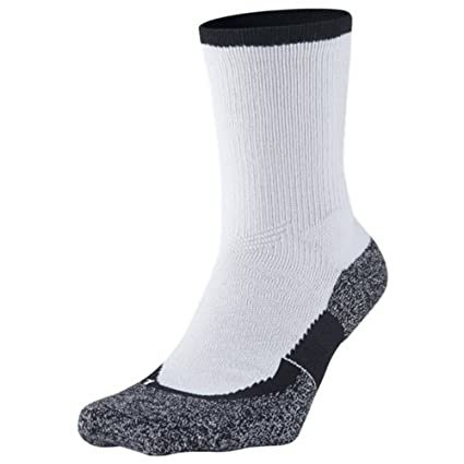 Nike Crew Socks Elite Tennis Calcetines, Unisex Adulto, Blanco/Negro (White/