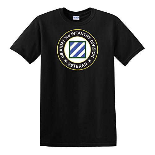 Us 3rd Infantry Division - fagraphix Men's US Army 3rd Infantry Division Veteran Patch T-Shirt XX-Large Black