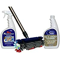 The Spotty Carpet & Tile Cleaning Kit ~ Brush & 32 oz Shampoo + Bonus 32 oz Grout Cleaner