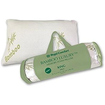 Amazon Com Bamboo Luxury Memory Foam Pillow Queen Home