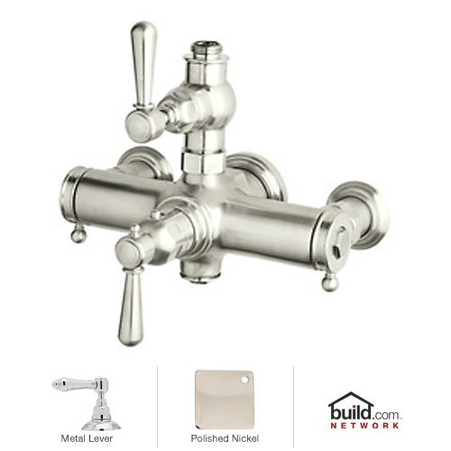 Rohl A2917LMPN Country Bath Collection Verona Exposed Thermostatic Mixer with Polished Metal (Rohl Exposed Thermostatic Mixer)