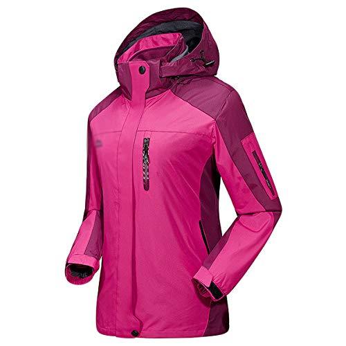 Abrigos Cremallera Viento Capucha Ropa Jingrong Women's Impermeable A Deportiva Espesado Prueba Mountain De Jacket Con Pink Bolsillo Trabajo UWPwqF