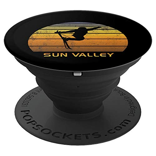 (Sun Valley Idaho Ski Fan - PopSockets Grip and Stand for Phones and Tablets)