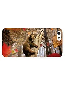 3d Full Wrap Case for iPhone 5/5s Animal Bear And Owl